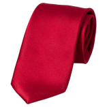 Dark Red Tie - Polyester Satin - Thumbnail 1