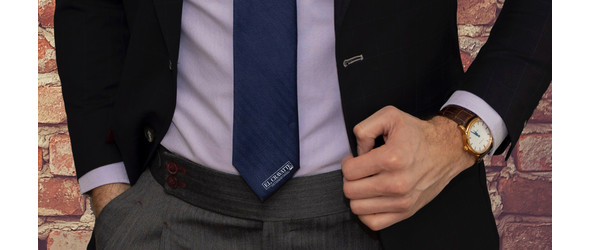 Neckties with logo They will be back