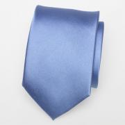 Tie blue satin