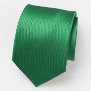 Silk woven green tie